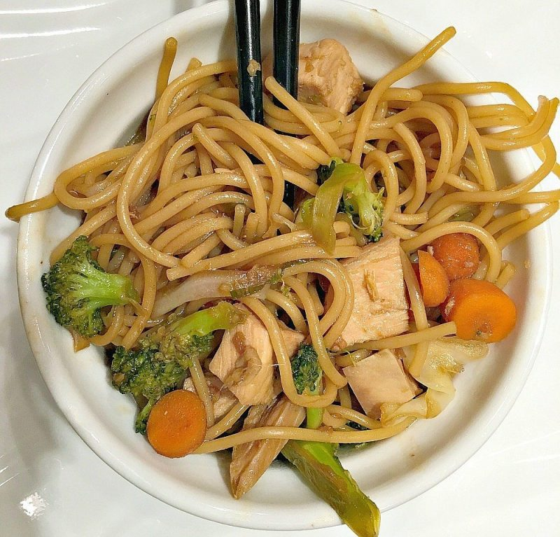 Garlic Ginger Noodles with Chicken5