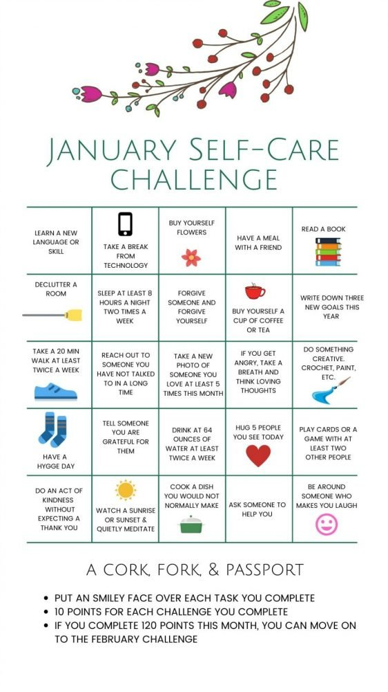 January Self Care Challenge for Women3