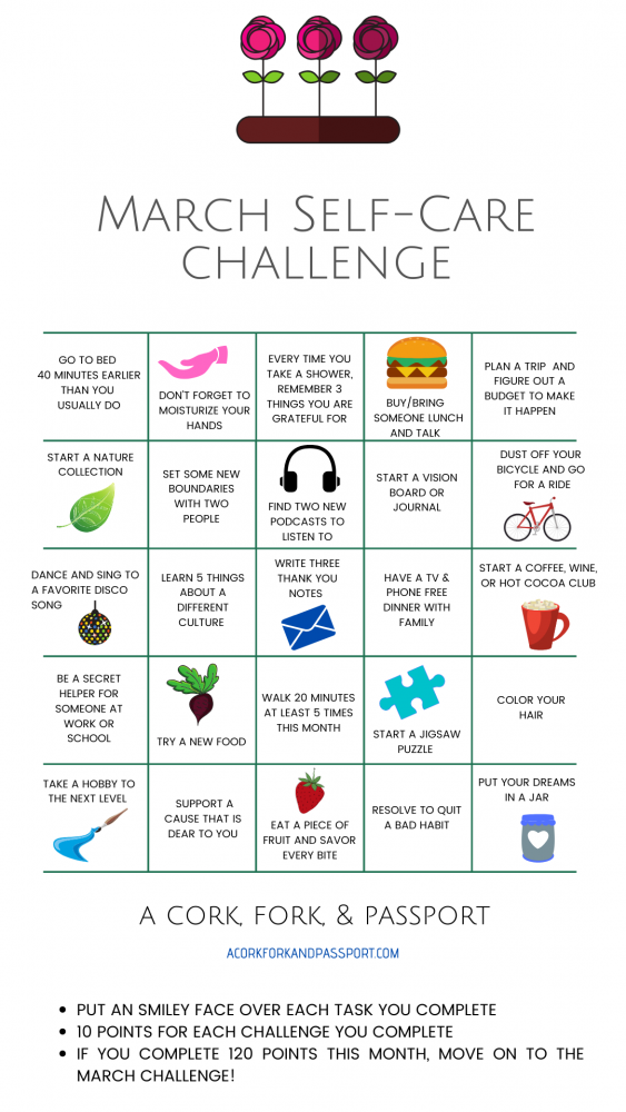 March Self Care Challenge for Women2