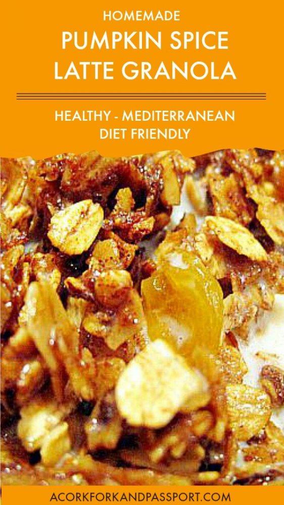 Pumpkin Spice Latte Granola Mediterranean Diet Friendly